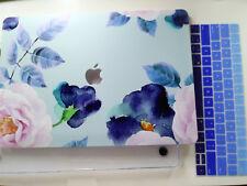 """Custodia rigida MacBook Pro 15"""" con touch bar motivo floreale + Copritastiera"""
