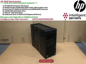 HP Z840 Workstation, 2x E5-2640 v3, 128GB, 2x 512GB SSD, 2TB HDD, Quadro K4200