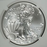 2017 American Eagle Early Release 1oz Silver Bullion $1 NGC MS70     A-443