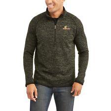 Mossy Oak mens Olive Quarter Zip Sweater Fleece Coat Size 2XL/2XG