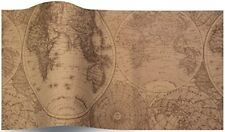 Olde World Map Suttons Tissue Wrap 5 sheets of 70 x 50 cm luxury tissue wrapping