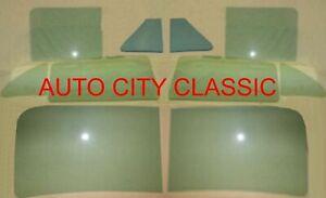 1952 Hudson Hornet 4dr sedan 2pc Windshield & Side Glass Green Tint long WB