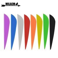 """12pcs 3"""" Archery Arrow Feather Rubber Vanes Fletching Fletches Bow DIY Hunting"""