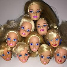 1 pc Head Blond Fashion Cute Gift Brunette Kids For Barbie Doll OOAK Projects r