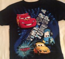 Shirt Disney Cars boys size 7 new cotton Lightning McQueen Time for a Tuneup