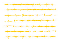 "High Heat Barbed Wire Vinyl Firearm Stencil 10"" x 12"" Cerakote Duracoat"