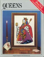 Playing Card Queens Cross Stitch Pattern Leaflet Yours Truly #6239 Hearts Spades