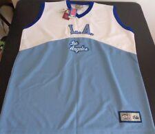 LOS ANGELES LAKERS Basketball MAJESTIC Hardwood Classics Size XL Jersey NEW Blue