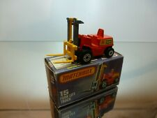 MATCHBOX SUPERFAST 15 - FORK LIFT TRUCK LANSING BAGNALL - RED - EXCELLENT IN BOX