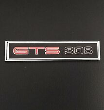 HQ GTS 308 BLACK MONARO DIE CAST CONSOLE BADGE CUSTOM CAR INTERIOR GIFT IDEA!