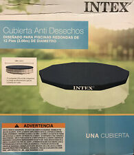 Intex 12 Foot Round Above Ground Swimming Pool Cover *cover only* Fast Shipping