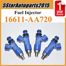 4x OEM 16611-AA720 Denso Fuel Injector 565cc for Subaru Forester Impreza WRX STI