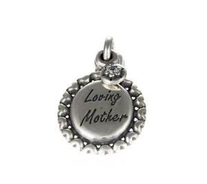 Genuine Pandora Silver Loving Mother Pendant Charm 791127CZ