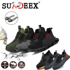 Mens Lightweight Safety Trainers Steel Toe Cap Shoes Work Ankle Hiking Boots