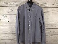 Polo Ralph Lauren Mens Navy Gingham Slim Fit L/S Button Down Shirt Size 2XL NWT