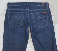 7 For All Mankind Jeans Mens Bootcut w Stretch Dark Sz 33 X 28