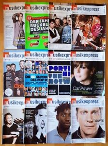 12x Musikexpress 2008 Zeitschrift Magazin Sammlung Hefte Jahrgang Pop Charts