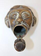 Antique Miniature Bronze Sculpture Figure Head Inkwell England