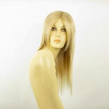 Perruque femme mi-longue blond doré méché blond très clair VICTOIRE 24BT613