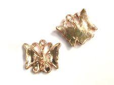 6 X 18 Mm Oro Mariposa De Plata Tibetana Dijes Colgante Artesanal Molduras E50