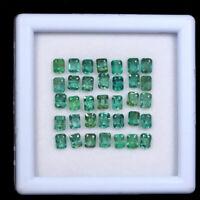 35 Pcs Colombian Emerald Natural 3.7mm-4.3mm Octagon Cut Gemstones Wholesale Lot