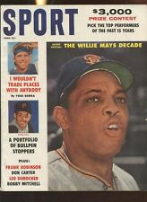 June 1961 Sport Magazine With Willie Mays Front Cover EX