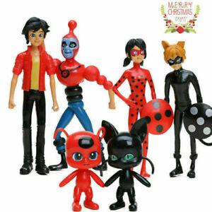 6pcs Miraculous Ladybug Action Figure Puppe Spielzeug Geschenk Toy für Kinder