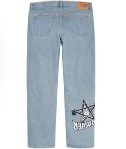 SUPREME THRASHER/ REGULAR JEAN WASHED BLUE SIZE 30 FW21 WEEK 5/ AUTHENTIC/ NEW