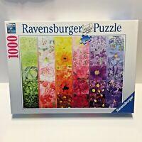 "Ravensburger Gardeners Palette 1000 Piece Jigsaw Puzzle 27"" x 20"" New Sealed"