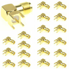 20 Pcs SMA RF Female Jack Right Angle PCB Board Mount Coaxial Adapter Connector
