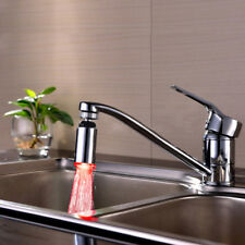 HOT *Multi-angle Temperature Control Faucet 3Color Changing WaterTap W/Led Light