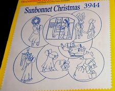 Aunt Marthas IronOn Transfer Sunbonnet Christmas 3944 Amish Style Girl Uncut New