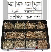 1700 Spanplattenschrauben Sortiment im Koffer,  Torx Antrieb, 3x16 - 5x80 mm