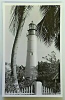 Lighthouse at Key West Florida Real Photo Postcard Unposted RPPC 4598
