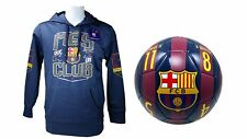 FC Barcelona Official Soccer Hoodie Jacket & Size 5 Ball Combo Adult 5 Large