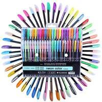 MEEDEN 48pcs Gel Pen Set Refills Metallic Pastel Neon Glitter Sketch Drawing Col