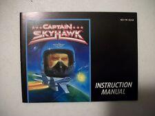 CAPTAIN SKYHAWK NINTENDO Entertainment System Instruction Manual Mint!