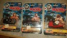lot of 3 WWF attitude racers die cast chris Benoit kane triple H