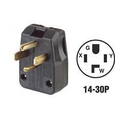 Leviton 30A/50A 125V/250V 4-Wire 3-Pole Range/Dryer Power Plug 200-00275-00T