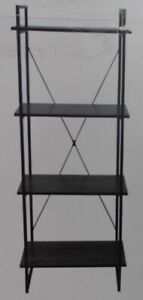 NEW Hudson Home BR19105J Soho Collection 4 Tier Tall Bookshelf $199