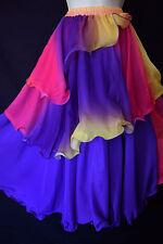 Silky tourbillon multicolore Gypsy Fairy Maxi Festival Danse Jupe, 6,8,10,12, 14, 16