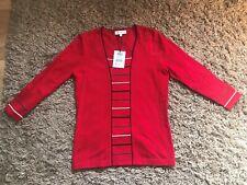 Austin Reed mujeres señoras puente inserto acanalado (Rojo) - Tamaño Pequeño-Bnwt