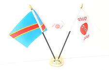 Congo Dr 2006 & Tokyo Japon Olympiques 2020 Bureau Drapeaux & 59mm Lot de Badges