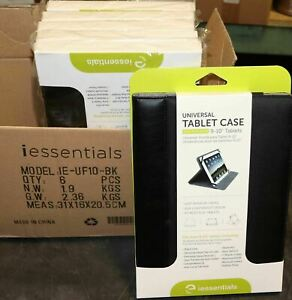 LOT 6 iEssentials Tablet Case Fits Most 9-10 inch Wholesale Cell Phone Store