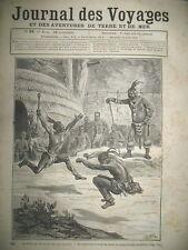 JOURNAL DES VOYAGES N° 92 AFRIQUE DU SUD ZOULOUS ET CAFRES DANSES RITES 1879