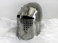 Medieval Great Bascinet Helmet Hand Forged Sca/Jousting/Helm/Knight/Armor Gift