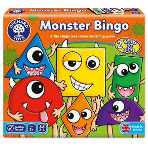 Orchard Toys Monster Bingo, Colour and Shape Board Game, 3+ Years