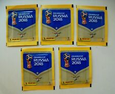 5 x Panini Sticker Tüten WM 2018 Russia Fifa World Cup McDonalds Neu Ovp