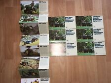 7 Vintage John Deere Brochures 650-1050 400 2040 2240 Tractors VG*