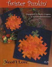 Twister Punkin' Quilt Pattern, Need'l Love, Pumpkin Pinwheels #LP4